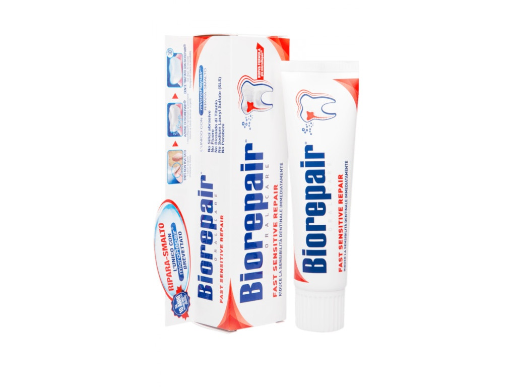 Зубная паста Biorepair Fast Sensitive Repair 75ml GA0801000/GA1014800/GA1152200/1336800