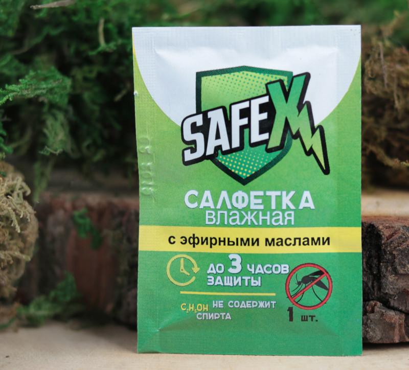 Средство защиты от комаров Safex Влажная салфетка 1шт 4239449