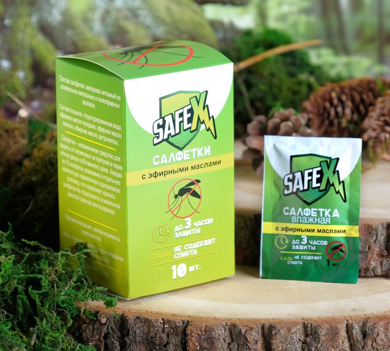 купить Средство защиты от комаров Safex Влажная салфетка 10шт 4239450 дешево