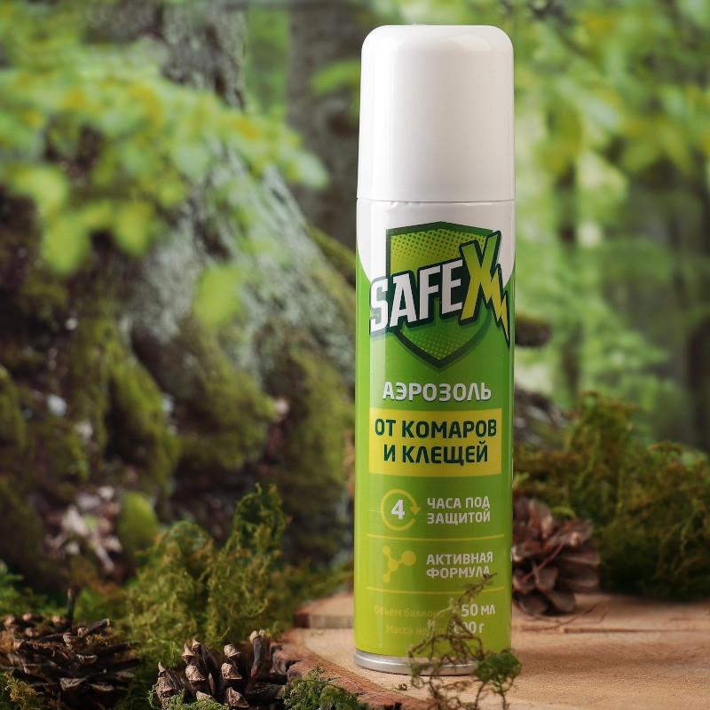 Средство защиты от комаров Safex Аэрозоль 150ml 4003611