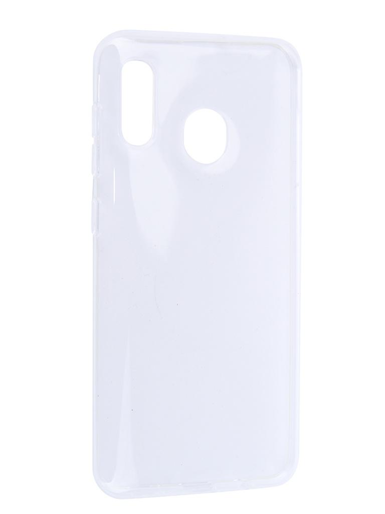 Аксессуар Чехол iBox для Samsung Galaxy A20 Crystal Transparent УТ000017417 red line ibox crystal чехол для samsung galaxy j5 2017 transparent