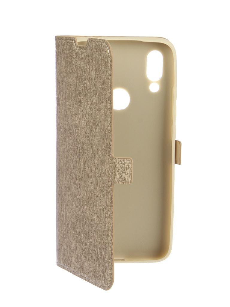 Аксессуар Чехол DF для Xiaomi Redmi 7 Flip Case Gold xiFlip-43