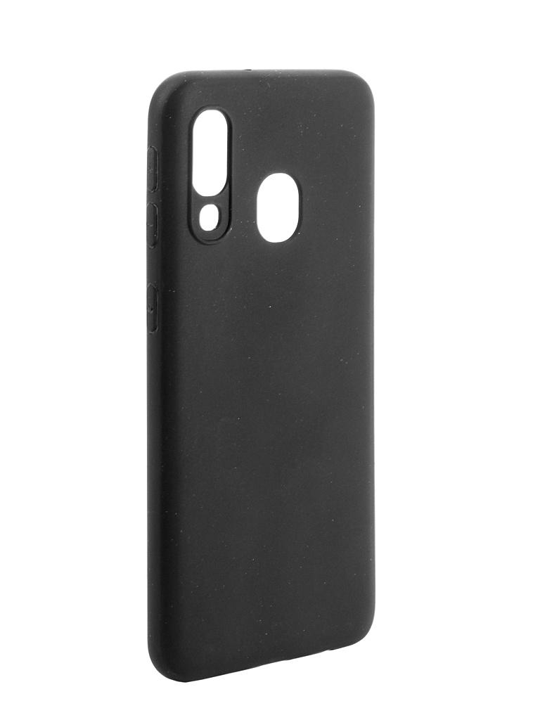 Чехол DF для Samsung Galaxy A40 Silicone Super Slim sColorCase-04 Black