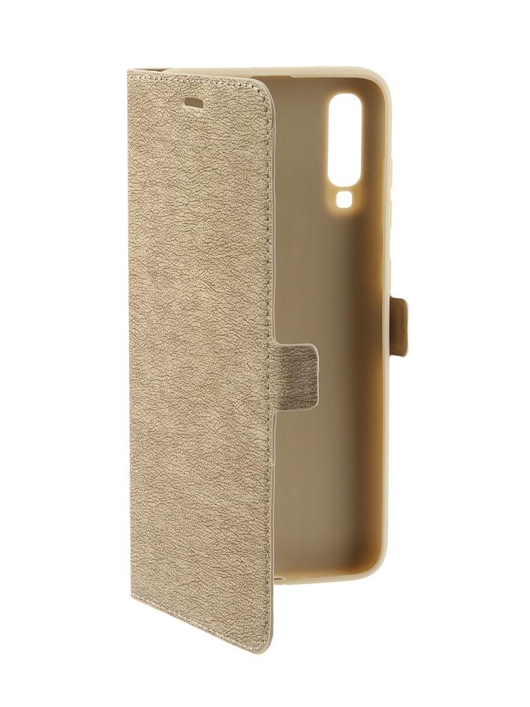 Аксессуар Чехол DF для Samsung Galaxy A70 Gold sFlip-44