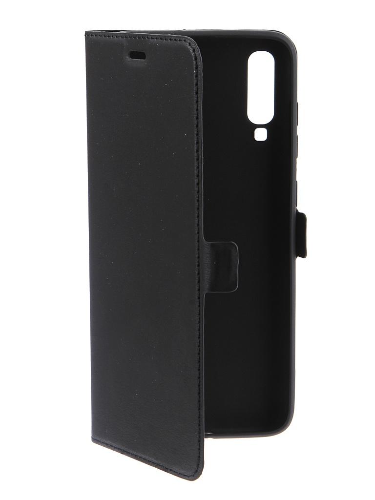 Чехол DF для Samsung Galaxy A70 Black sFlip-44 недорого