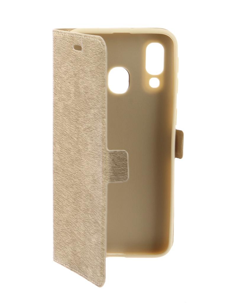 Аксессуар Чехол DF для Samsung Galaxy A40 Gold sFlip-43