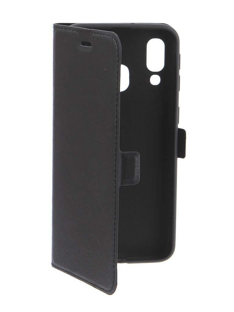 Аксессуар Чехол DF для Samsung Galaxy A40 Black sFlip-43