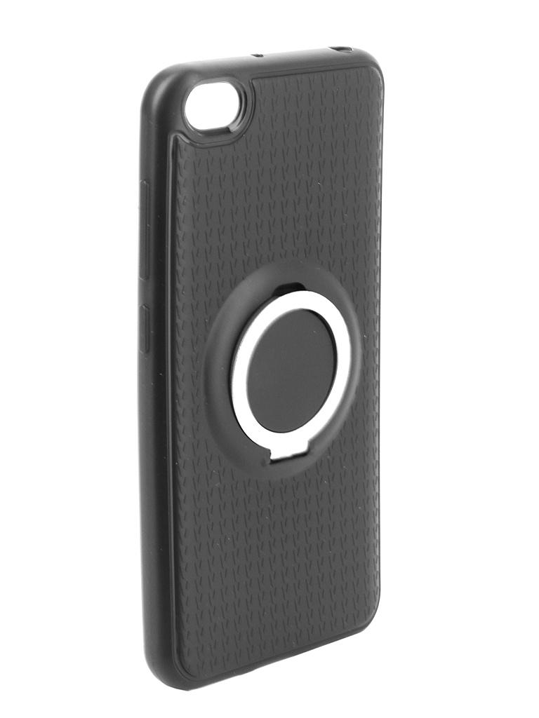 Аксессуар Чехол DF для Xiaomi Redmi Go Silicone с кольцом-держателем Black xiBlackRing-01 аксессуар df czebra 01 blue black