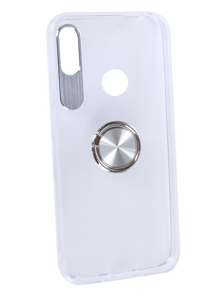 Аксессуар Чехол DF для Honor 8A/Y6 2019 Plastic + Silicone с кольцом-держателем Silver hwTRing-01