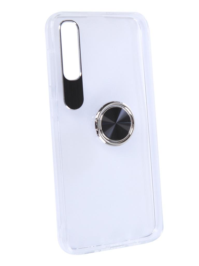 Аксессуар Чехол DF для Samsung Galaxy A50 Plastic + Silicone с кольцом-держателем Black sTRing-04
