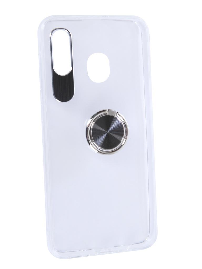 Аксессуар Чехол DF для Samsung Galaxy A20/A30 Plastic + Silicone с кольцом-держателем Black sTRing-02 нож филейный окунь сталь 95х18