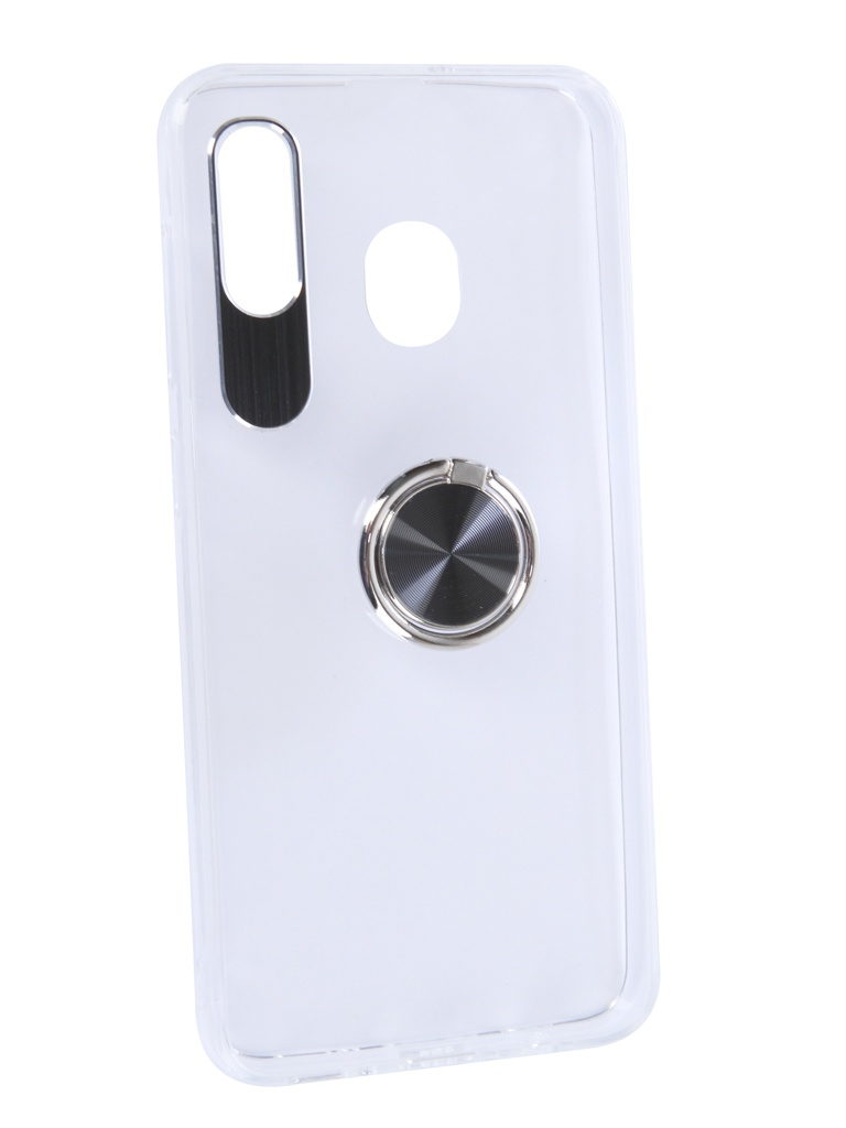 Аксессуар Чехол DF для Samsung Galaxy A20/A30 Plastic + Silicone с кольцом-держателем Black sTRing-02 w5300 lqfp100 wiznet