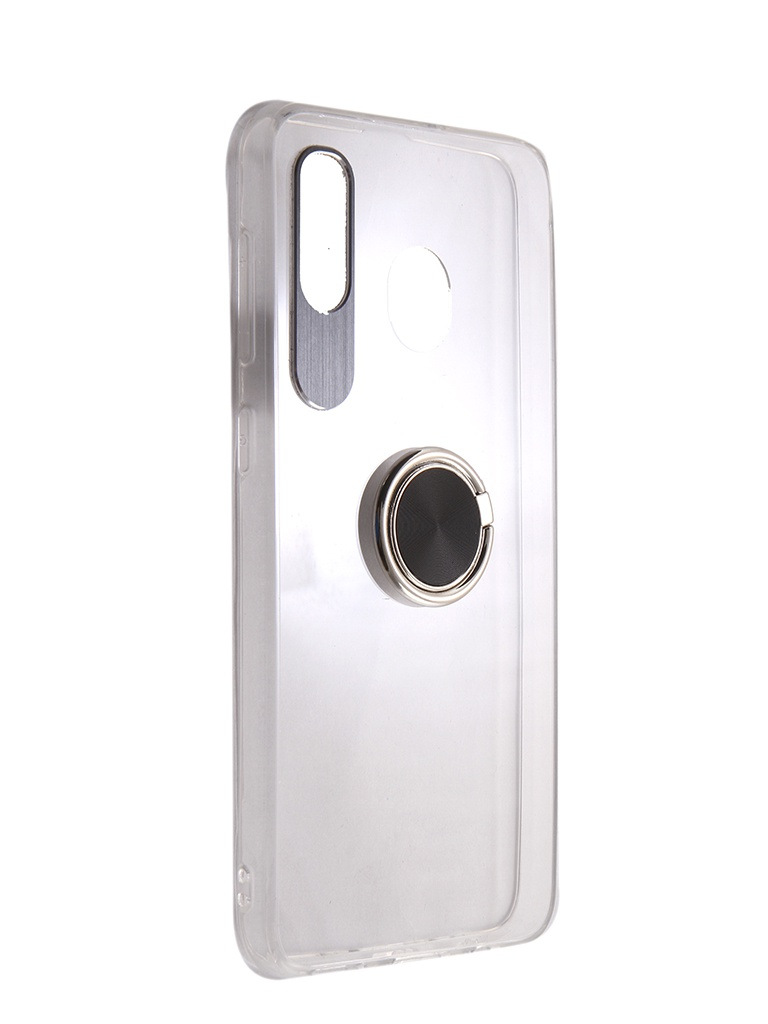 Чехол DF для Samsung Galaxy A20/A30 Silicone с кольцом-держателем Black sBlackRing-02 от DF-GROUP
