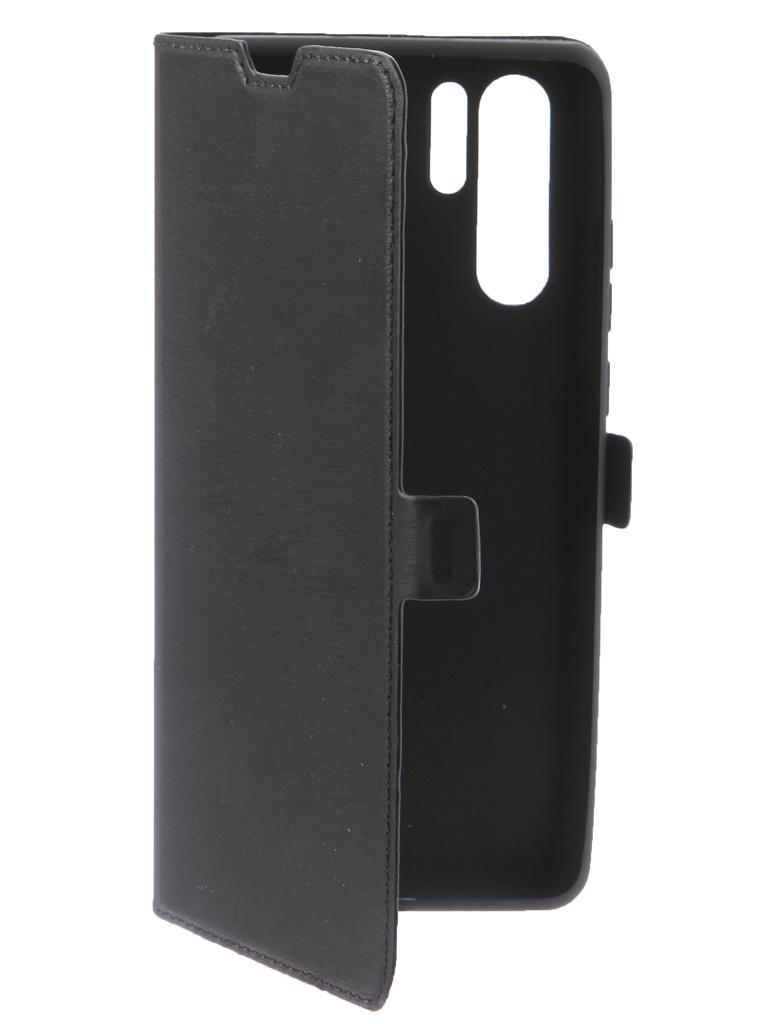 Аксессуар Чехол DF для Huawei P30 Pro Flip Case Black hwFlip-63