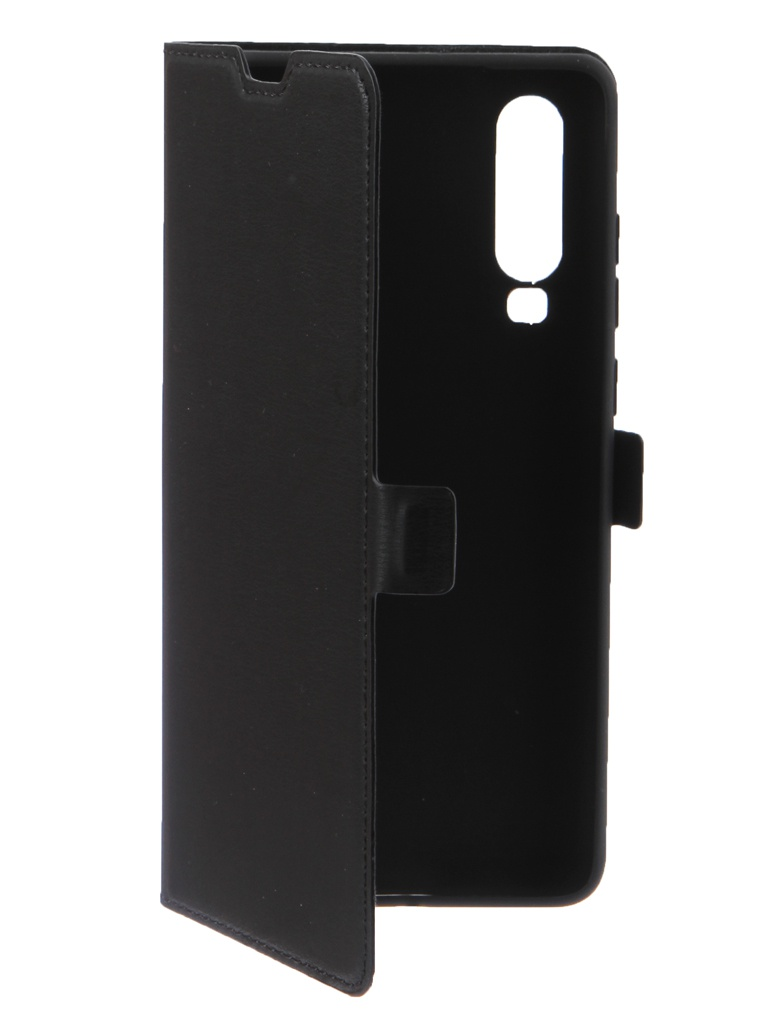 Аксессуар Чехол DF для Huawei P30 Flip Case Black hwFlip-62