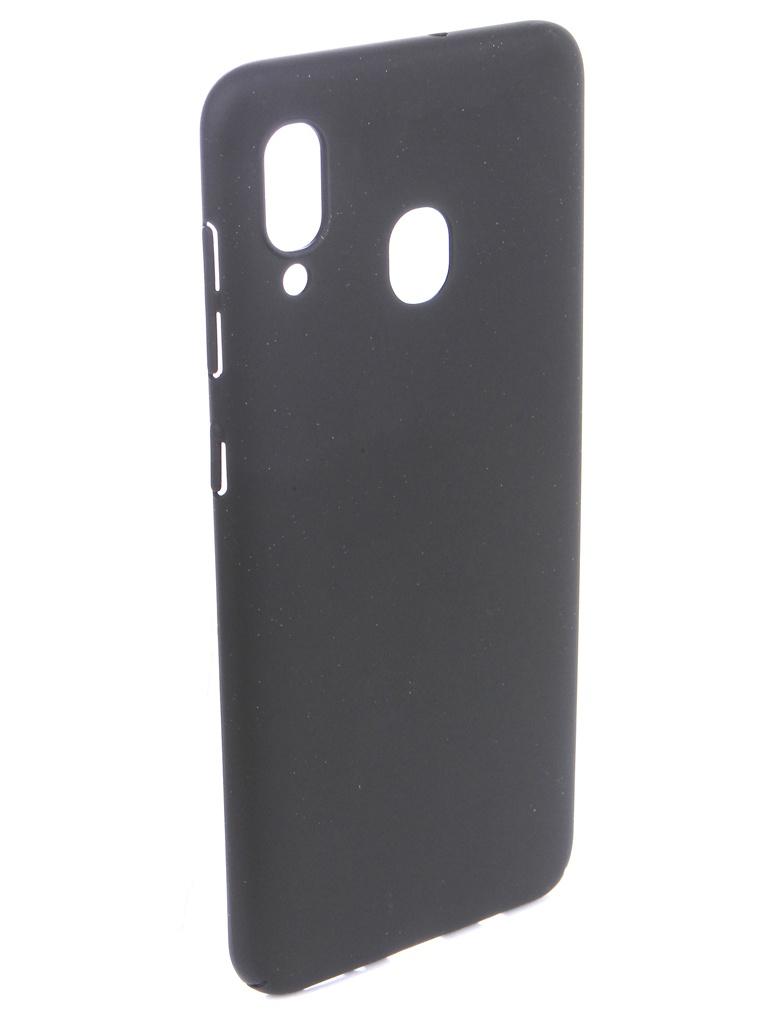 Аксессуар Чехол DF для Samsung Galaxy A20/A30 Soft-Touch Black sSlim-38 аксессуар чехол df для samsung galaxy a70 soft touch black sslim 36