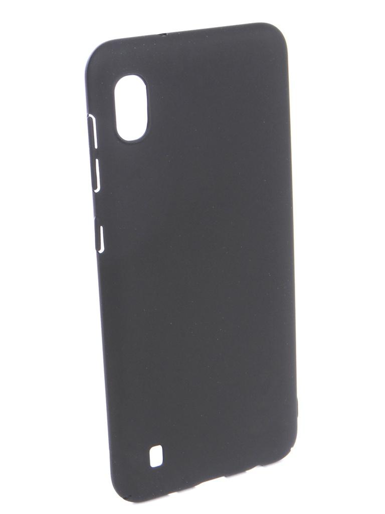 Аксессуар Чехол DF для Samsung Galaxy A10 Soft-Touch Black sSlim-35 цена и фото