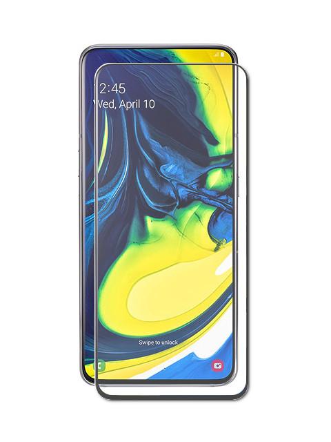 Аксессуар Закаленное стекло DF для Samsung Galaxy A80 Full Screen sColor-77 Black стоимость