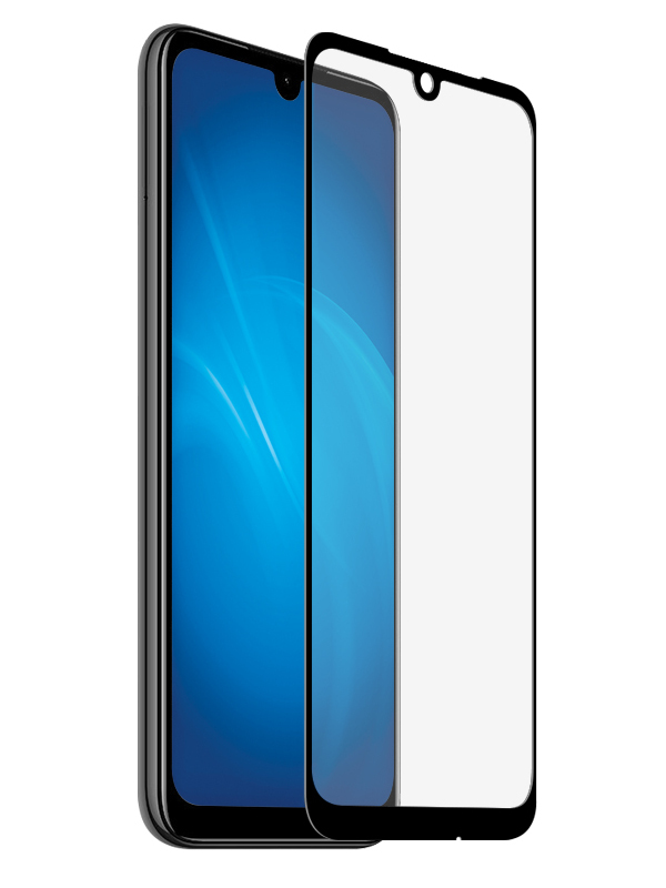 Аксессуар Закаленное стекло DF для Xiaomi Redmi 7 Full Screen xiColor-55 Black аксессуар закаленноестеклодляxiaomi