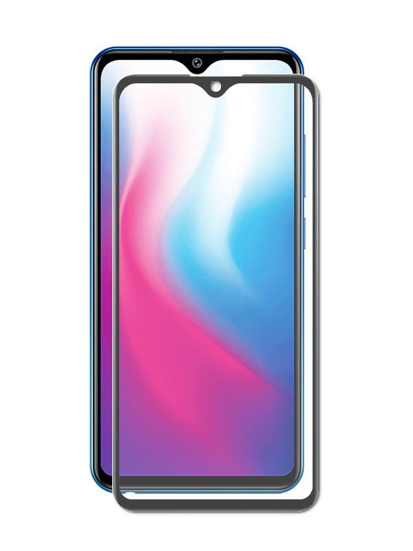 Закаленное стекло DF для Vivo Y91/Y95/Y91c/Y91i/Y93/Y97 Full Screen Black vColor-08