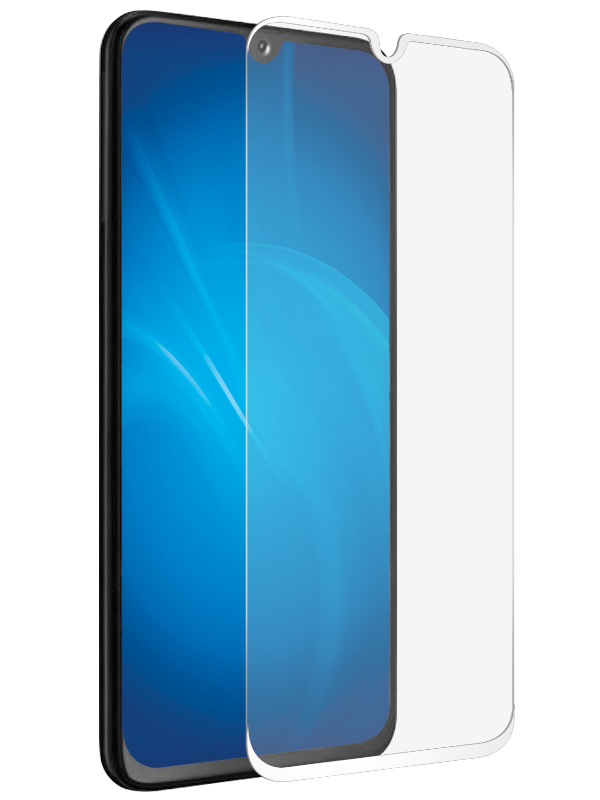 Закаленное стекло DF для Samsung Galaxy A70 Full Screen+ Glue White sColor-76