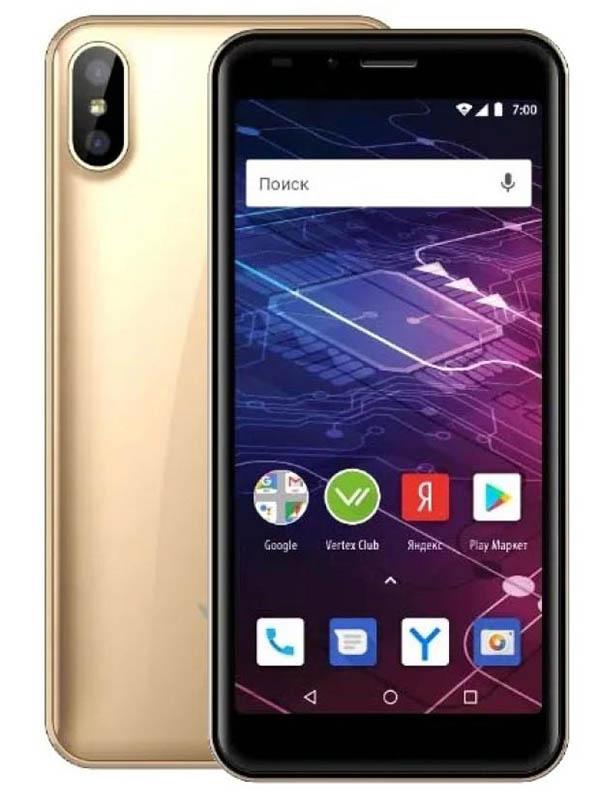 Сотовый телефон VERTEX Impress Click NFC Gold сотовый телефон vertex d571 red