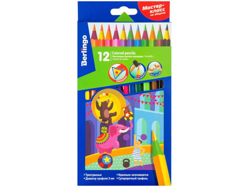 Фото - Карандаши цветные Berlingo Цирк 12 цветов CP_04812 berlingo карандаши цветные пластиковые цирк 18 цветов cp 04812