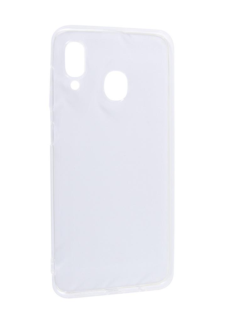 Аксессуар Чехол Svekla для Samsung A30 A305FD Silicone Transparent SV-SGA305FD-WH