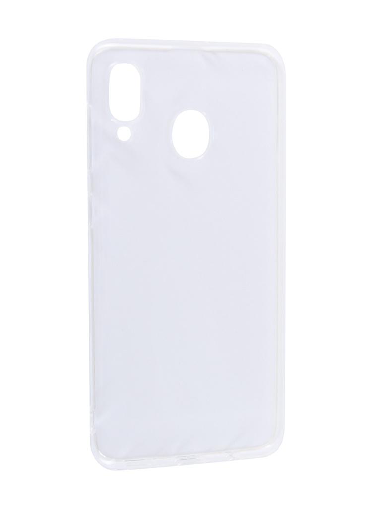 Аксессуар Чехол Svekla для Samsung A20 A205FD Silicone Transparent SV-SGA205FD-WH