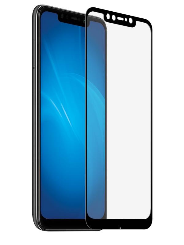 Аксессуар Закаленное стекло DF для Xiaomi Pocophone F1 Full Screen Black Frame poColor-01