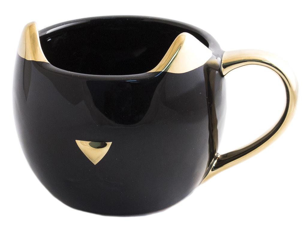 Кружка Эврика Котик Золотые ушки Black 98928 кружка эврика котик n3 с блюдцем 98704
