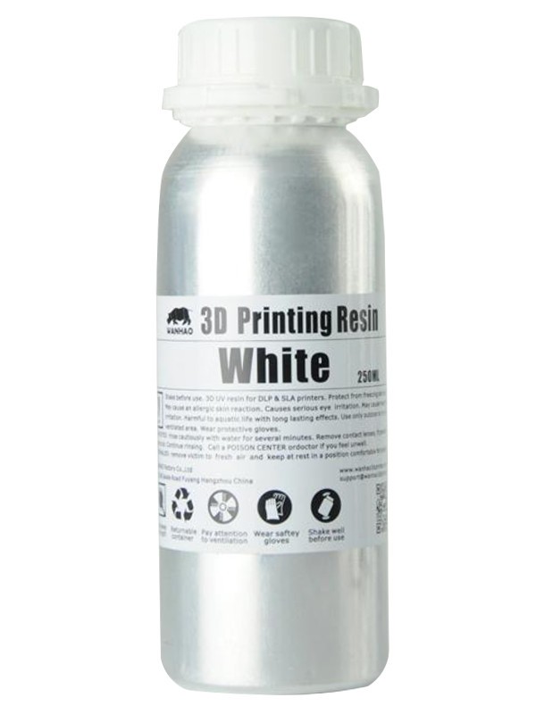 Аксессуар Фотополимерная смола Wanhao 250ml White wanhao abs luminous white filament 1 75mm hot sale