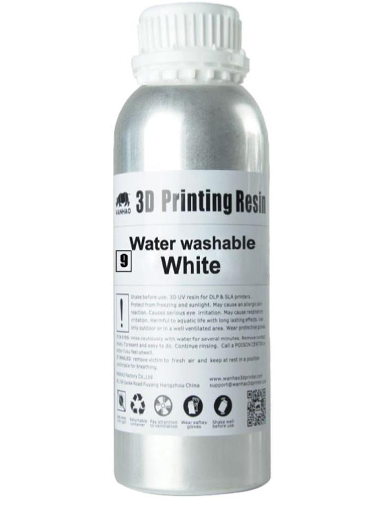 Аксессуар Фотополимерная смола Wanhao Water Washable 250ml White