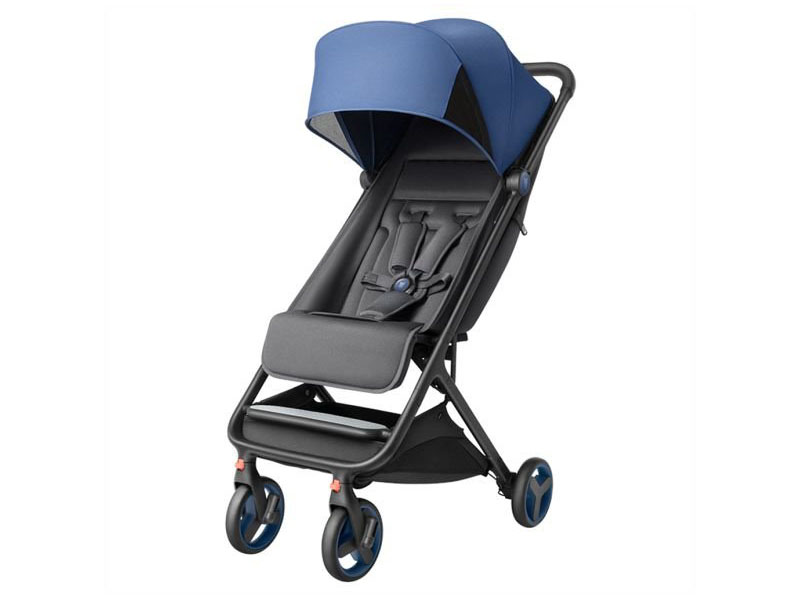 Коляска Xiaomi MITU Baby Folding Stroller Blue high landscape baby stroller can sit reclining folding light two way four wheel shock absorber baby stroller