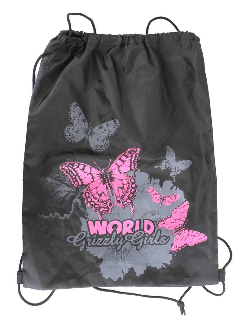 Мешок для обуви Grizzly Бабочки World Grizzly Girls Black мешок для обуви t rex world