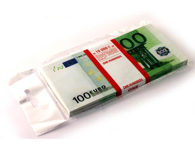 Эврика Забавная Пачка 100 евро 90108
