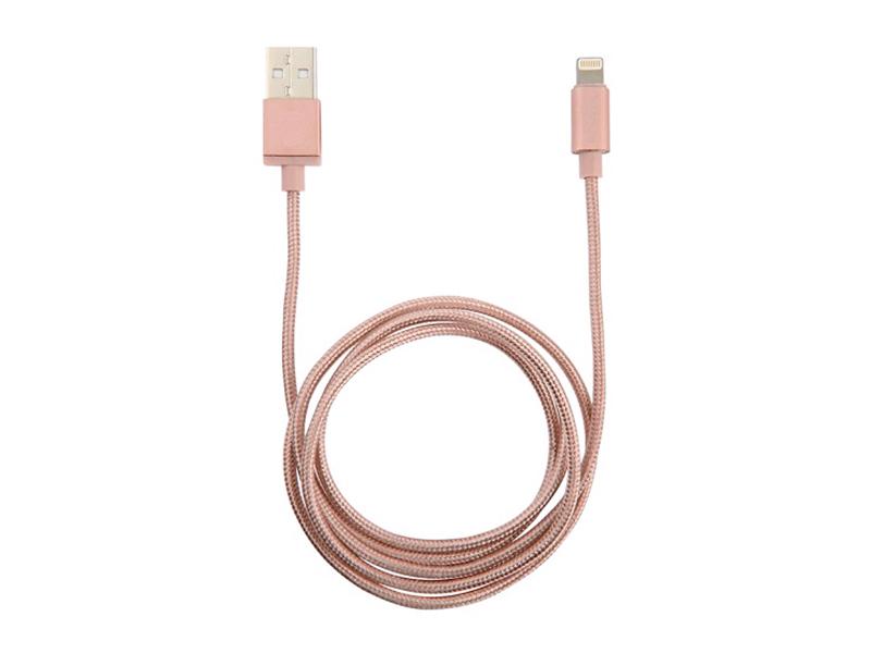 Аксессуар Sititek UC-066 USB - microUSB / Lightning Magnetic Pink 63577