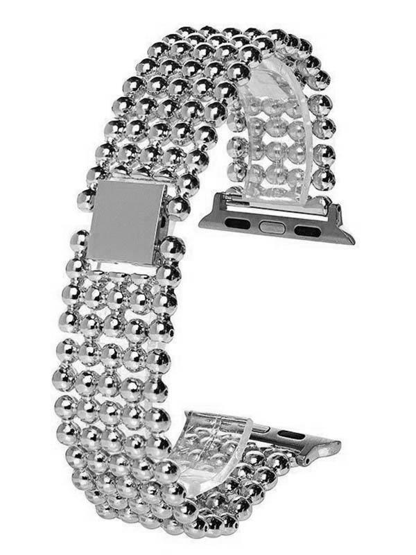 Аксессуар Ремешок Activ Metal 01 для Apple Watch 42/44mm Siver 98964