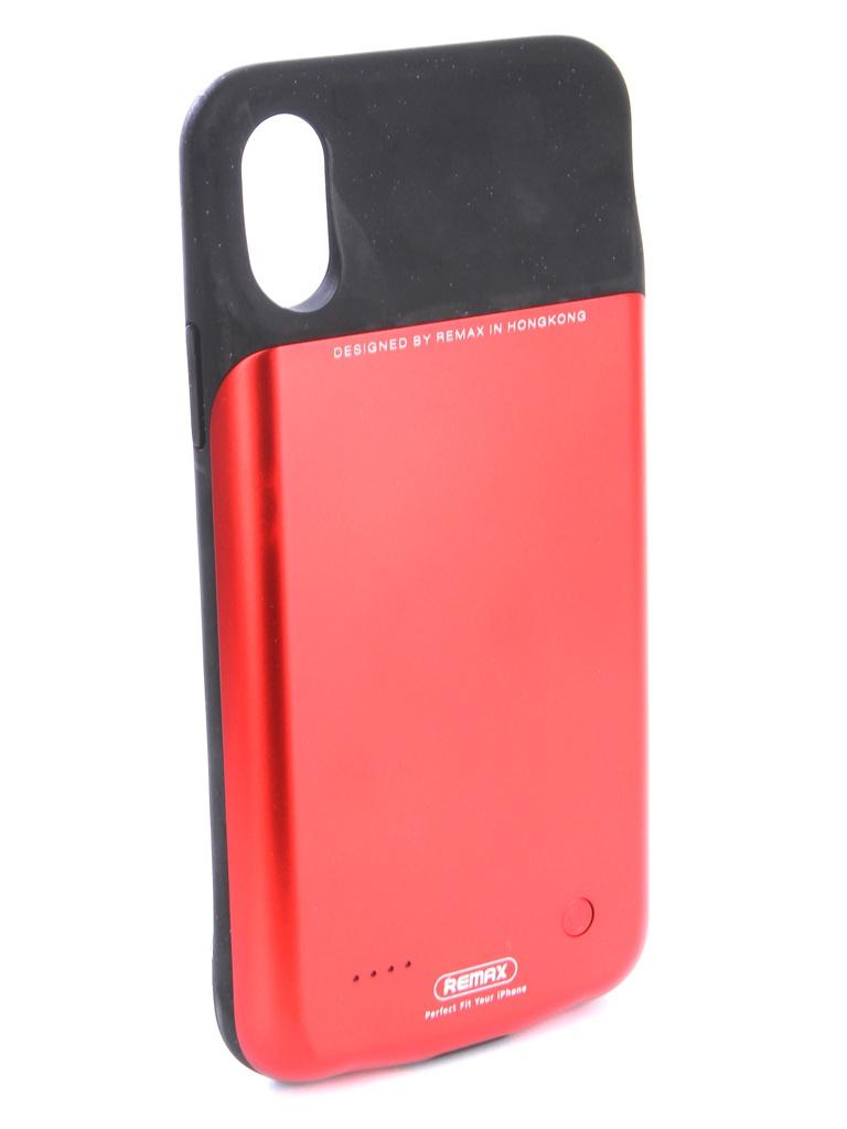 Аксессуар Чехол-аккумулятор Remax для APPLE iPhone X 3200mAh Penen PN-04 Red