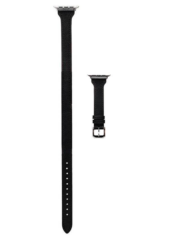 Аксессуар Ремешок Activ Double Tour натуральная кожа для Apple Watch 42/44mm Black 95916