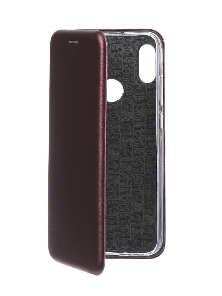 Аксессуар Чехол Neypo для Huawei Y6 2019 Premium Bordo NSB11507