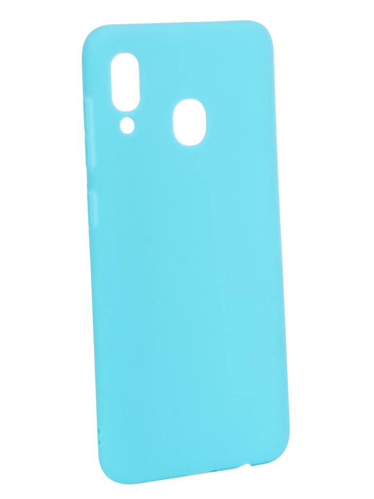Аксессуар Чехол Zibelino для Samsung Galaxy A20 A205 2019 Soft Matte Turquoise ZSM-SAM-A20-TQS
