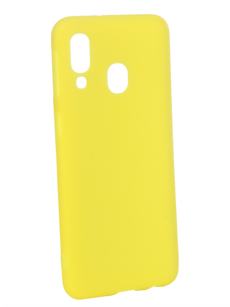 Аксессуар Чехол Zibelino для Samsung Galaxy A40 A405 2019 Soft Matte Yellow ZSM-SAM-A40-YEL аксессуар чехол zibelino для samsung galaxy j2 core j260f 2018 soft matte yellow zsm sam j260f yel