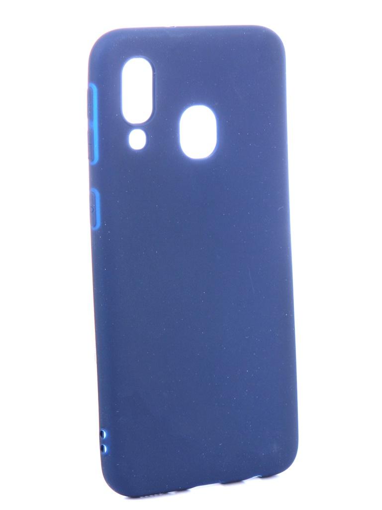 Аксессуар Чехол Zibelino для Samsung Galaxy A40 A405 2019 Soft Matte Dark Blue ZSM-SAM-A40-DBLU