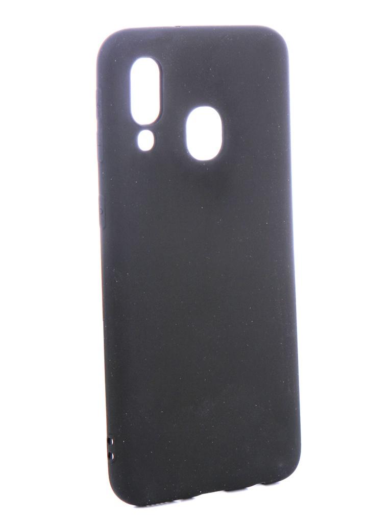 Аксессуар Чехол Zibelino для Samsung Galaxy A40 A405 2019 Soft Matte Black ZSM-SAM-A40-BLK аксессуар чехол samsung galaxy a5 2017 zibelino classico black zcl sam a5 2017 blk