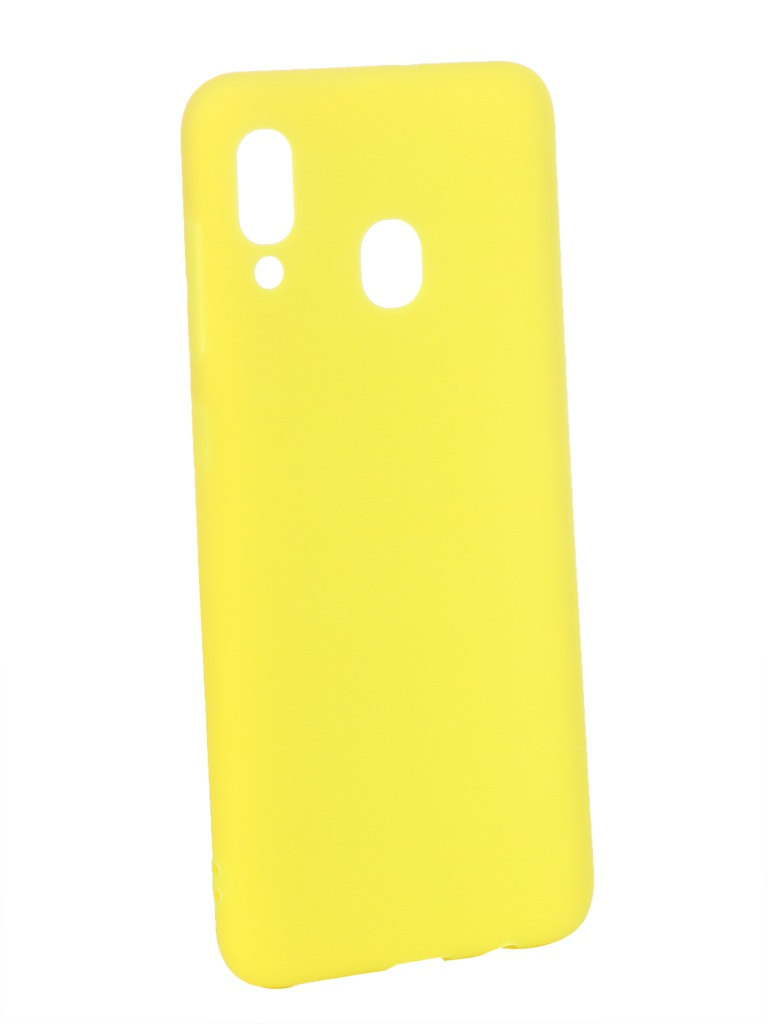 Аксессуар Чехол Zibelino для Samsung Galaxy A30 A305 2019 Soft Matte Yellow ZSM-SAM-A30-YEL аксессуар чехол zibelino для samsung galaxy j2 core j260f 2018 soft matte yellow zsm sam j260f yel