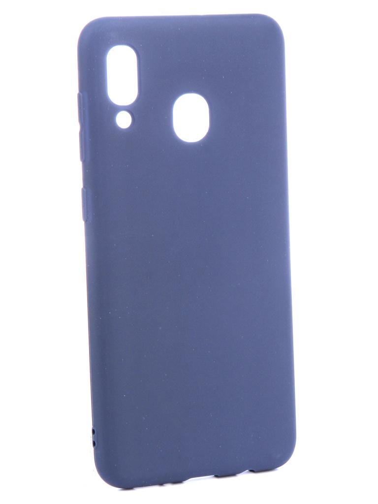 Аксессуар Чехол Zibelino для Samsung Galaxy A30 A305 2019 Soft Matte Dark Blue ZSM-SAM-A30-DBLU