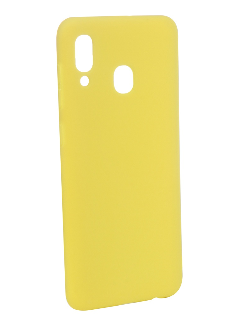 Аксессуар Чехол Zibelino для Samsung Galaxy A20 A205 2019 Soft Matte Yellow ZSM-SAM-A20-YEL аксессуар чехол zibelino для samsung galaxy j2 core j260f 2018 soft matte yellow zsm sam j260f yel