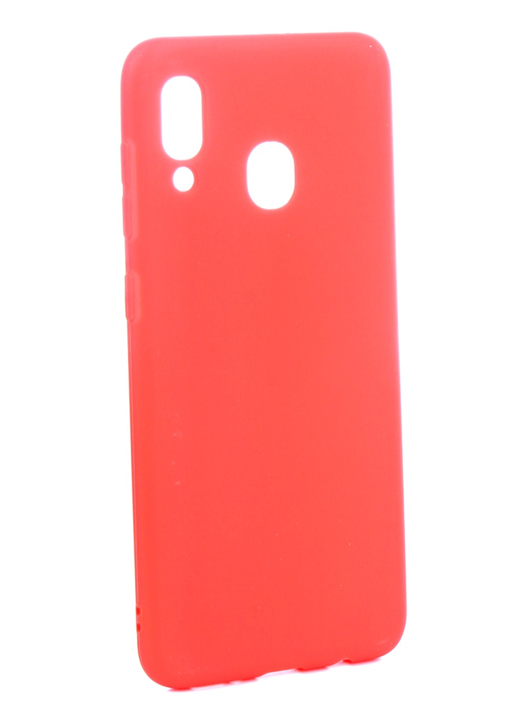 Аксессуар Чехол Zibelino для Samsung Galaxy A20 A205 2019 Soft Matte Red ZSM-SAM-A20-RED