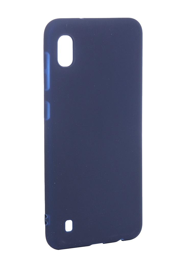 Чехол Zibelino для Samsung Galaxy A10 A105 2019 Soft Matte Dark Blue ZSM-SAM-A10-DBLU